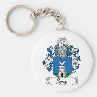Escudo de la familia de Savini Llavero Redondo Tipo Pin