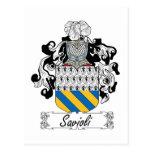 Escudo de la familia de Savioli Postal