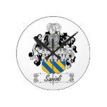Escudo de la familia de Savioli Relojes De Pared