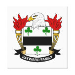 Escudo de la familia de Sayward Lona Envuelta Para Galerias