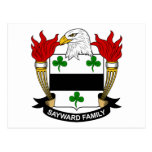 Escudo de la familia de Sayward Tarjeta Postal