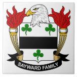 Escudo de la familia de Sayward Teja Ceramica