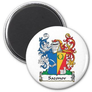 Escudo de la familia de Sazonov Imán Redondo 5 Cm