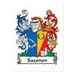 Escudo de la familia de Sazonov Tarjetas Postales