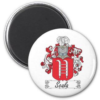 Escudo de la familia de Scala Imán Redondo 5 Cm