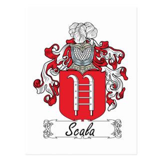 Escudo de la familia de Scala Postales