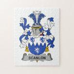Escudo de la familia de Scanlon Rompecabeza Con Fotos