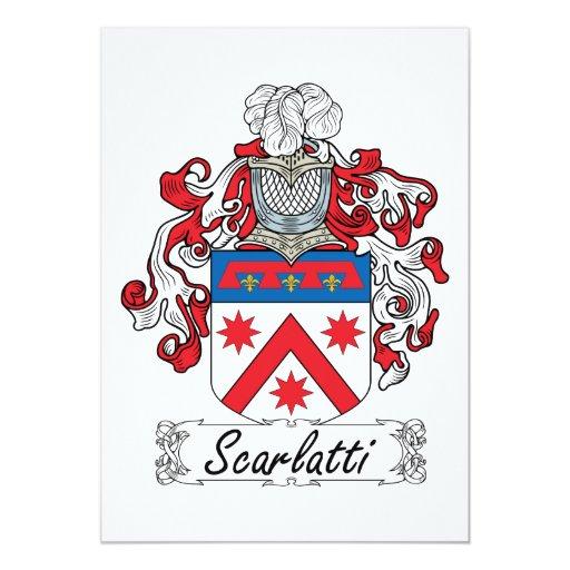 """Escudo de la familia de Scarlatti Invitación 5"""" X 7"""""""