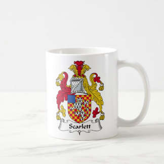 Escudo de la familia de Scarlett Taza De Café