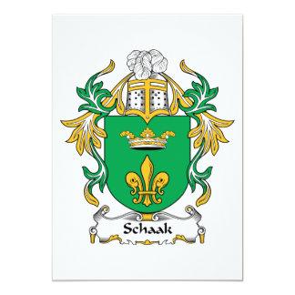 """Escudo de la familia de Schaak Invitación 5"""" X 7"""""""