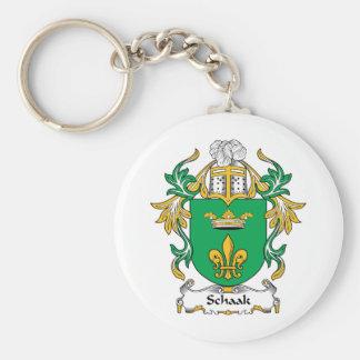 Escudo de la familia de Schaak Llavero Redondo Tipo Pin