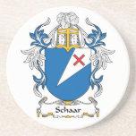Escudo de la familia de Schaar Posavasos Diseño