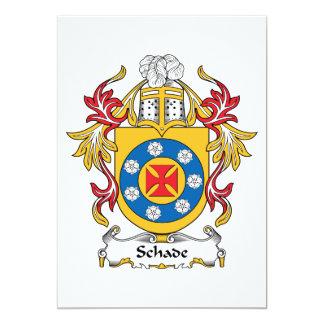 """Escudo de la familia de Schade Invitación 5"""" X 7"""""""