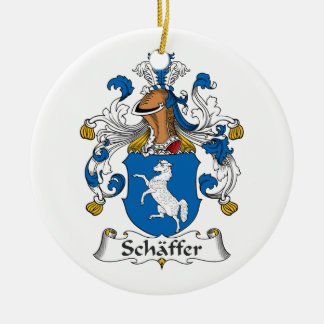 Escudo de la familia de Schaffer Adornos De Navidad