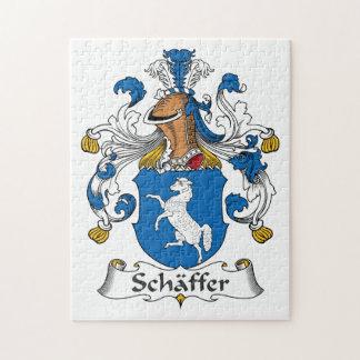 Escudo de la familia de Schaffer Rompecabezas Con Fotos