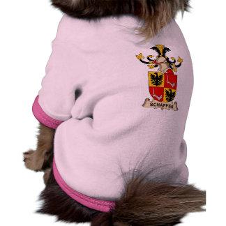 Escudo de la familia de Schäffer Camisetas De Perro
