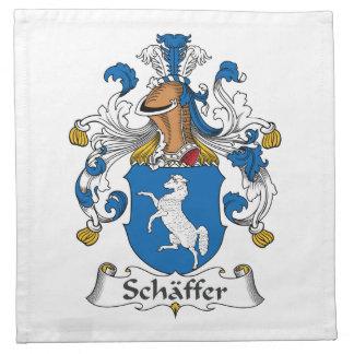 Escudo de la familia de Schaffer Servilleta