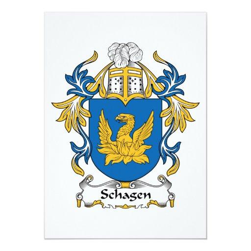 """Escudo de la familia de Schagen Invitación 5"""" X 7"""""""
