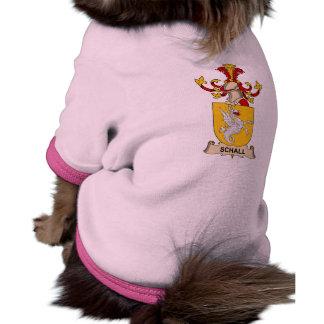 Escudo de la familia de Schall Camisetas De Perro