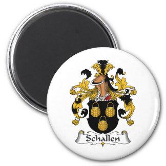 Escudo de la familia de Schallen Imán Para Frigorifico