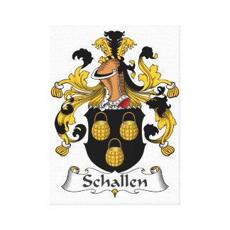 Escudo de la familia de Schallen Lienzo Envuelto Para Galerías