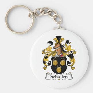 Escudo de la familia de Schallen Llaveros Personalizados