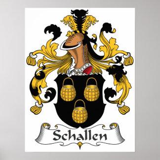 Escudo de la familia de Schallen Poster