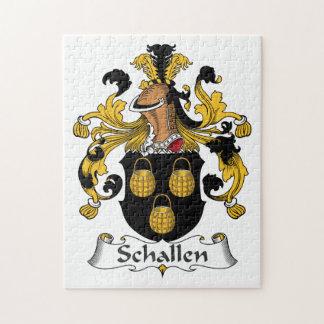 Escudo de la familia de Schallen Rompecabeza Con Fotos