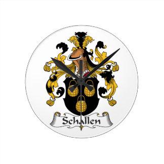 Escudo de la familia de Schallen Relojes