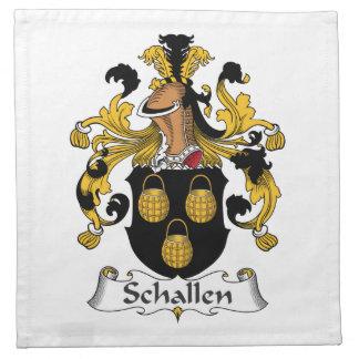 Escudo de la familia de Schallen Servilleta