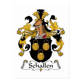 Escudo de la familia de Schallen Tarjetas Postales