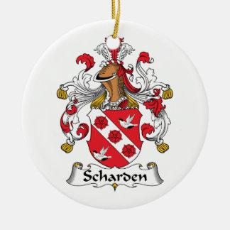 Escudo de la familia de Scharden Adorno Redondo De Cerámica