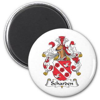 Escudo de la familia de Scharden Imán Para Frigorífico