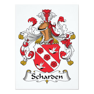 Escudo de la familia de Scharden Invitación 16,5 X 22,2 Cm