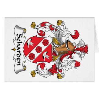 Escudo de la familia de Scharden Tarjeta