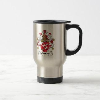 Escudo de la familia de Scharden Tazas De Café