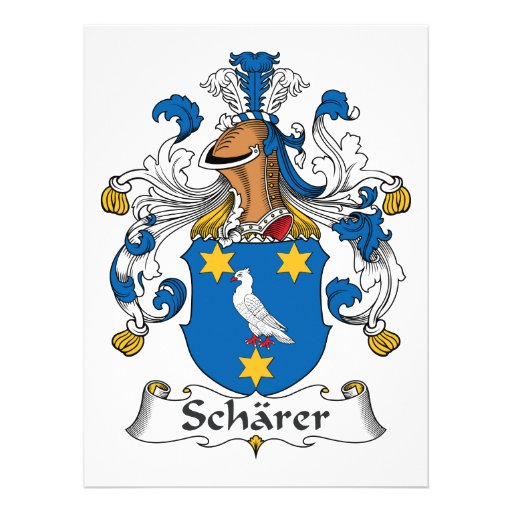 Escudo de la familia de Scharer Comunicado Personalizado