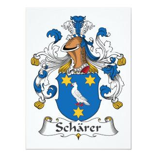 """Escudo de la familia de Scharer Invitación 6.5"""" X 8.75"""""""
