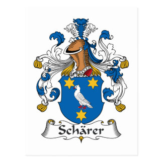 Escudo de la familia de Scharer Tarjetas Postales