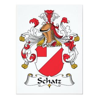 """Escudo de la familia de Schatz Invitación 6.5"""" X 8.75"""""""