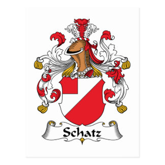 Escudo de la familia de Schatz Postales