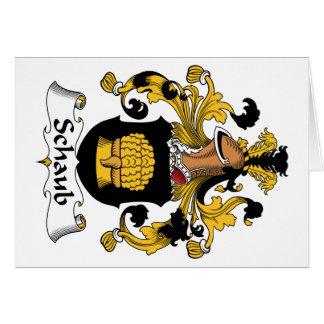 Escudo de la familia de Schaub Tarjeta De Felicitación