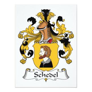 Escudo de la familia de Schedel Invitacion Personalizada