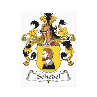 Escudo de la familia de Schedel Lienzo Envuelto Para Galerias