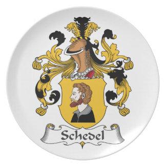 Escudo de la familia de Schedel Plato Para Fiesta