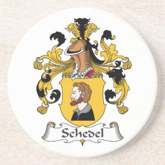 Escudo de la familia de Schedel Posavasos Diseño