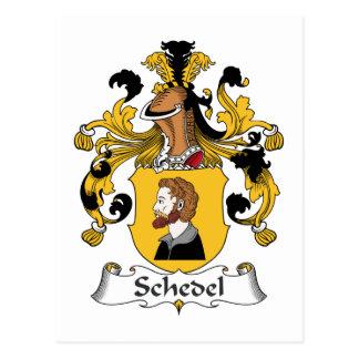 Escudo de la familia de Schedel Postal