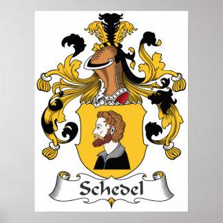 Escudo de la familia de Schedel Poster