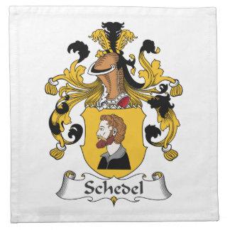 Escudo de la familia de Schedel Servilleta De Papel
