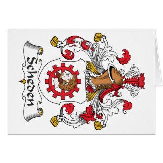 Escudo de la familia de Scheden Tarjetón